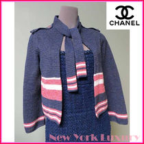 CHANEL★シャネル★素敵!2-Pocket Neck Ties Cardigan Jacket