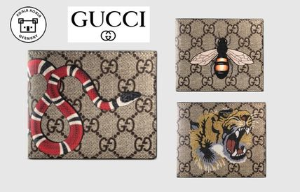GUCCI bifold wallet animal motif 3 types