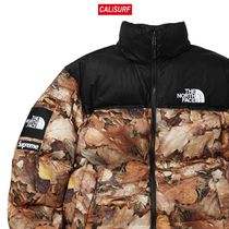 コラボ☆M Supreme x TNF Nuptse Jacket with packable hood/bw