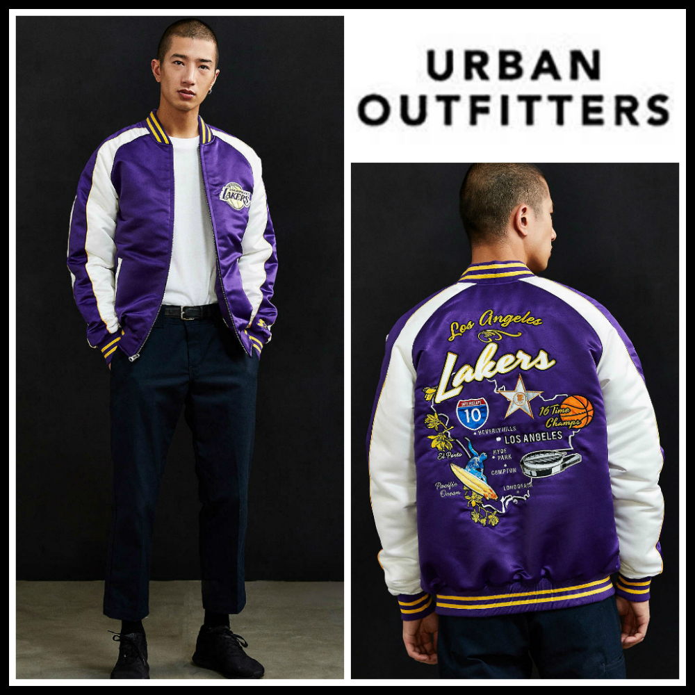US限定*Starter×UO NBA Los Angeles Lakers Souvenir Jacket