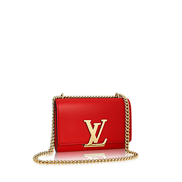 "★【Louis Vuitton】Chain ""Louise MM"" Soft Leather★"