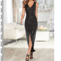 Venus*DEEP V SEQUIN FORMAL DRESS