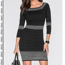 VENUS*STRIPED DRESS