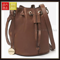 【MAX&Co】Leather bucket bag ACROBATA Brown