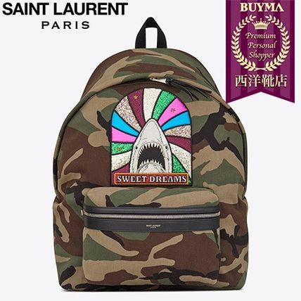 "SAINT LAURENT 17SS┃GIANT CITY ""SWEET DREAMS"" PATCH BACKPACK"