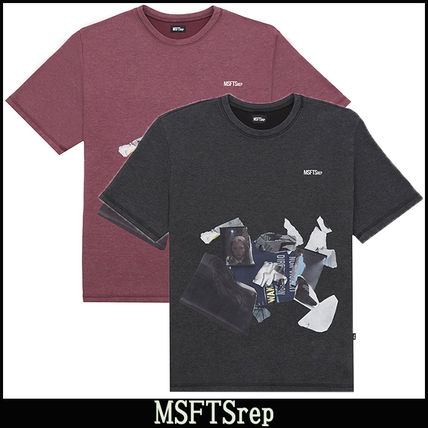 "16-17AW 新作 ""MSFTSREP"" COLLAGE プリントTシャツ/2色"