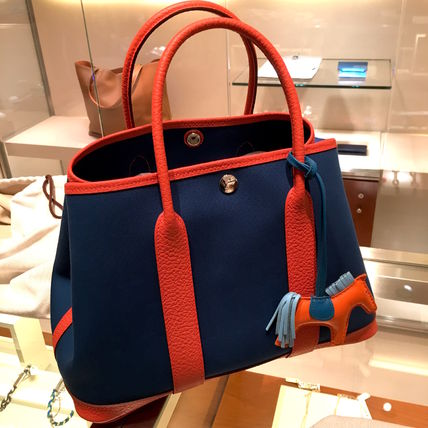 """HERMES トートバッグ 2016""""OUTREMERxCAPUCINE""""★HERMES/Garden 30(TPM)VACHE COUNTRY"""