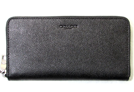 Coach 長財布 人気の黒☆COACH☆CROSSGRAIN LEATHER ACCORDION WALLET