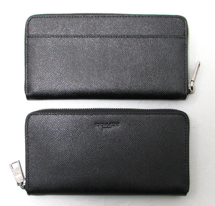 Coach 長財布 人気の黒☆COACH☆CROSSGRAIN LEATHER ACCORDION WALLET(3)