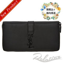 関税・送料込み【Saint Laurent】monogram zip-around wallet