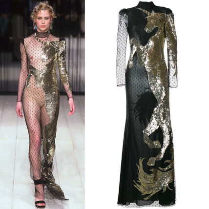 16-17AW AM092 LOOK35 UNICORN EMBELLISHED GOWN