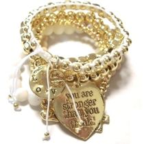 【めざましテレビで紹介】CAT HAMMILL heart bracelet set