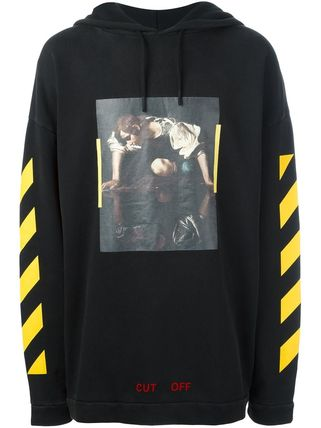 OFF WHITE 16AW NARCISO HOODIE BLACK
