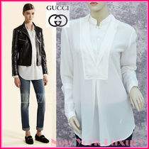 GUCCI★グッチ★素敵!SILK  DOUBLE FRONT BLOUSE