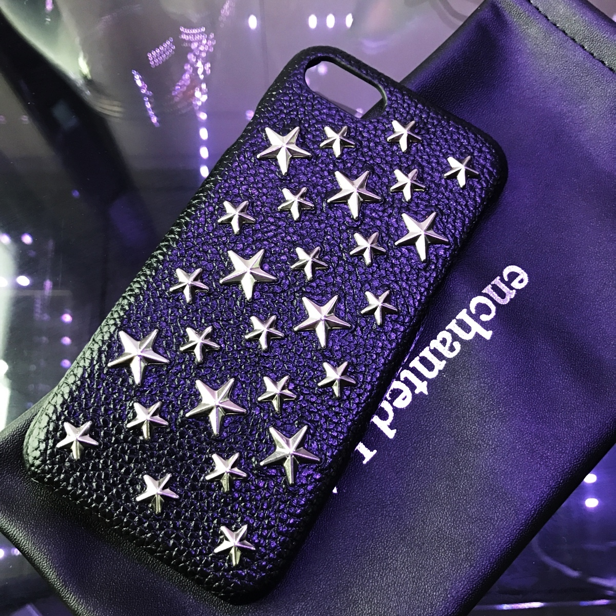 iPhone★超人気【enchanted.LA】BRILLIANT STAR STUDDED COVER