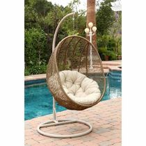 Swinging Egg Outdoor Wicker Chair