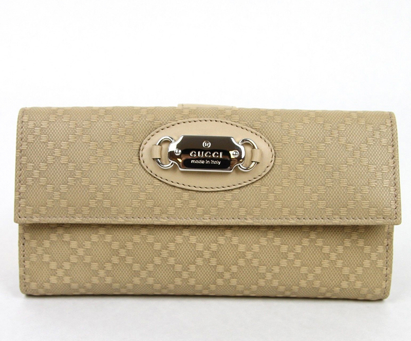 GUCCI★グッチ★素敵!Beige Diamante Leather Wallet