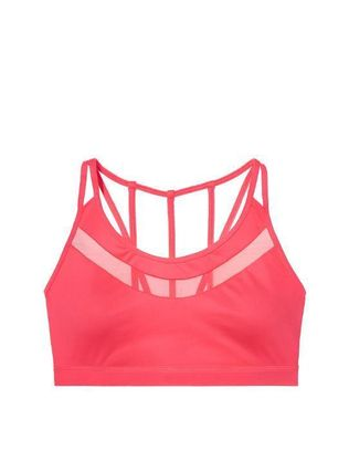★Ignited★Strappy Mesh-trim Sport Bra