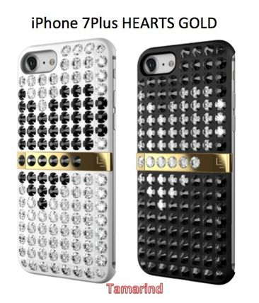 "LUXレア★iPhone7Plusケース★LUCIEN ""HEARTS GOLD SERIES"" 2色"