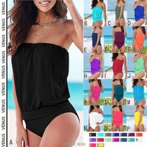 Venus*BLOUSON TANKINI TOP & HIGH WAIST MODERATE BIKINI SET