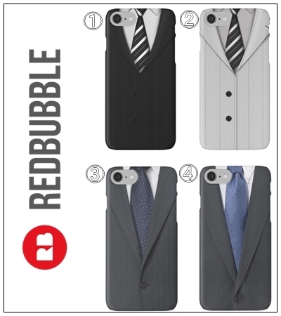 ☆RED BUBBLE Suit & Tie iPhoneケース4色☆送関込