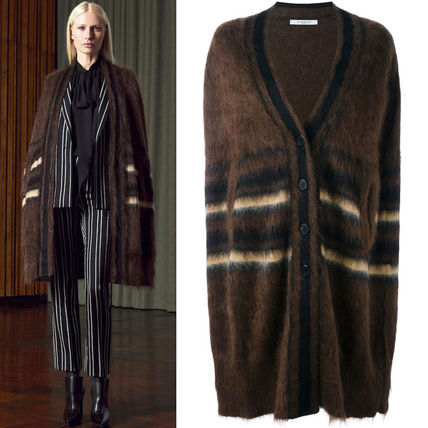16-17AW G072 LOOK4 STRIPED MOHAIR CAPE