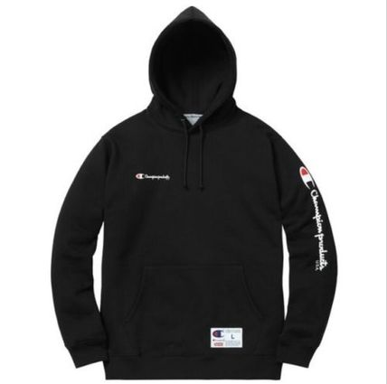 Supreme x Champion Hooded Sweatshirt Black M