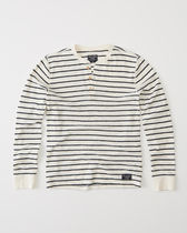*Abercrombie & Fitch(アバクロ)*LONG-SLEEVE STRIPED HENLEY
