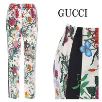 17SS GUCCI フローラプリント シルク パジャマパンツ 454813