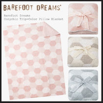 Barefoot Dreams Cozychic Trip-Color Pillow Blanket [651]