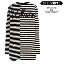 Off-White_正規品 / 新作 / 16FW STRIPED SHIRT WHITE ALL OVER