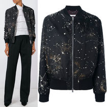 16-17AW G085 CRYSTAL EMBELLISHED BOMBER JACKET