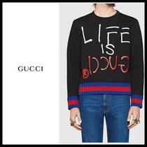GUCCI GUCCI Ghost  LIFE IS GUCCI スウェット
