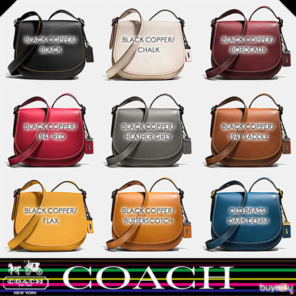 COACH★SADDLE BAG 23 IN BURNISHED GLOVETANNED LEATHER 55036