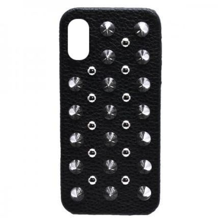enchanted LA スマホケース・テックアクセサリー 限定★【enchanted.LA】 SPIKE STUDDED LEATHER iPhone COVER