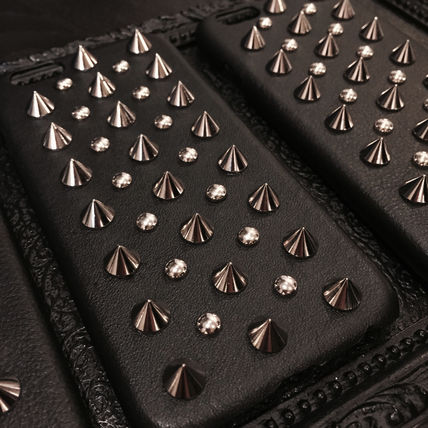 enchanted LA スマホケース・テックアクセサリー 限定★【enchanted.LA】 SPIKE STUDDED LEATHER iPhone COVER(3)
