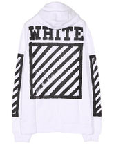Off-White_正規品 / 新作 / 16FW BRUSHED DIAGONALS ZIPPED HOOD