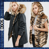 ASOS / Parka with Faux Tiger Fur Lining ファーライナー付き