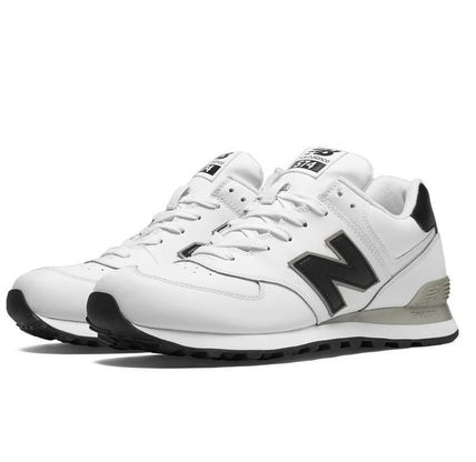 Rihanna Sale New Balance 574 b & w premium leather