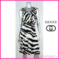 GUCCI★グッチ★素敵!TIGER SIGNATURE LOGO DRESS W/ Belt