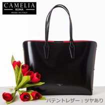 PATENT LEATHER TOTE BAG 【SHOPPING_0009】