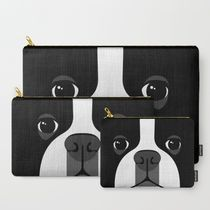 即納★【Society6】 Boston Terrier ポーチ3個セット