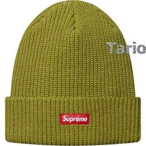送料込!Supreme 16AW Heather Loose Gauge Beanie Green