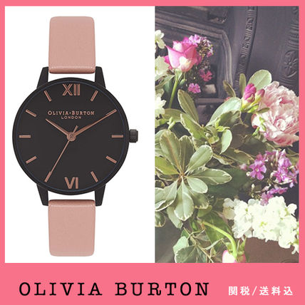 Olivia Burton アナログ腕時計 送税込【Olivia Burton】After Dark IP Black, Dusty Pink♪国発