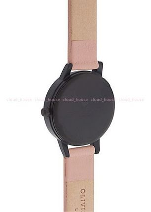 Olivia Burton アナログ腕時計 送税込【Olivia Burton】After Dark IP Black, Dusty Pink♪国発(3)