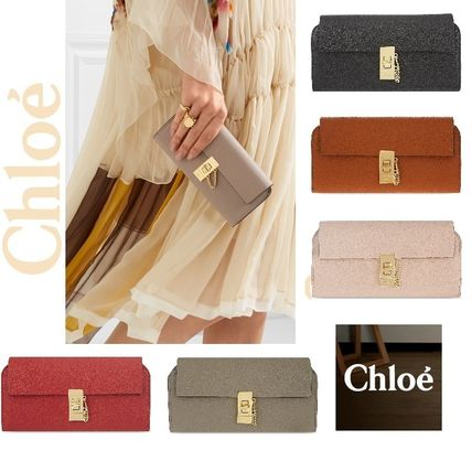 Chloe 長財布 ☆Chloe Drew lamb leather wallet☆(クロエ 羊皮 長財布)☆