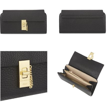 Chloe 長財布 ☆Chloe Drew lamb leather wallet☆(クロエ 羊皮 長財布)☆(2)