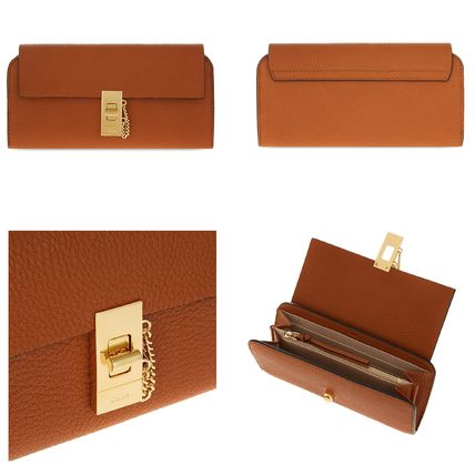 Chloe 長財布 ☆Chloe Drew lamb leather wallet☆(クロエ 羊皮 長財布)☆(3)