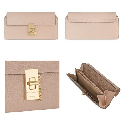 Chloe 長財布 ☆Chloe Drew lamb leather wallet☆(クロエ 羊皮 長財布)☆(4)