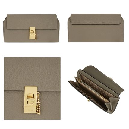Chloe 長財布 ☆Chloe Drew lamb leather wallet☆(クロエ 羊皮 長財布)☆(5)
